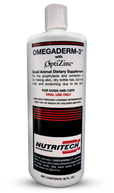 Omegaderm helps improve dull hair coat in dogs and cats